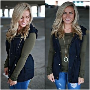 AJ's Threads Jackets & Coats - Navy Utility Vest